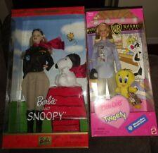 New Listing2001 Barbie & Snoopy + 1998 Barbie Loves Tweety! Nrfb!