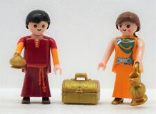 2 Roman Citizens Man+Woman + Accessories Playmobil to Rome Arena Emperor