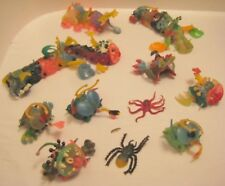 Old 1960s Lot of Soft Rubber Monsters Thing Maker Machine - Scary Bizarre Toys