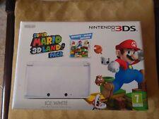 NINTENDO 3DS ICE WHITE LIMITED EDITION + SUPER MARIO 3D LAND NUOVO NON SIGILLATO