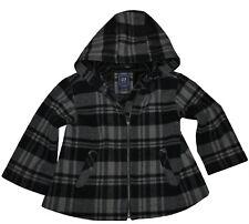 GAP Girls Lined Plaid Wool Blend Hooded Jacket Size L (10-11Y) EUC