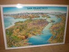 Laminated Poster Map SAN FRANCISCO by Unique Media,  Artistic Illustration Map