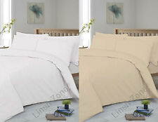 HOTEL QUALITY T400 THREAD EGYPTIAN COTTON FITTED FLAT BED SHEETS PILLOW CASES