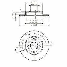 2 nk Bremsscheiben belüftet, nk 203223 234,5 x 18,0 mm Mazda: 323 , MX-5