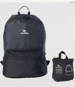 RIP CURL🔥Black Packable Backpack  Bag 🔥 surfing 🔥NEW WITH TAGS