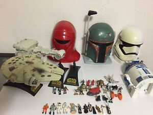 Star Wars Action Fleet Falcon Runner Micro Machines R2D2 Guard Fett