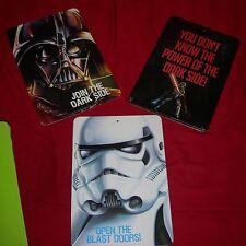 Disney Star Wars Lot 3 New WALL SIGNS Door Hanging Darth Vader Stormtrooper
