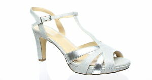 Paradox London Pink Womens Hinda Silver Ankle Strap Heels Size 7.5 (1509758)