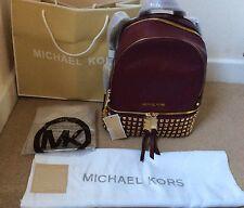Genuine Medium Michael Kors Rhea BORCHIE Merlot Zaino RRP £ 390