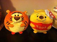 BNWT TY Beanie Ballz-Tigro e Pooh-Disney