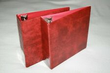 "(2) 3-Ring 3"" Inch D-Ring ALBUM / BINDER * Burgundy * Cards Magazines Programs"