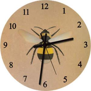 275mm 'Bee' Large Wooden Clock (CK00029027)