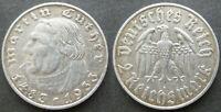 Deutsches Reich 2 Reichsmark 1933A  Martin Luther Silber