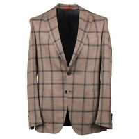 Isaia Windowpane Check Soft Wool-Cashmere-Silk Sport Coat 42R (Eu 52) Domenico