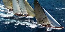 Close Racing Onne van der Wal Photography Sports Sailboats Poster 39.25x19.75
