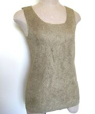 Tesori Gold Knit Tank Top Size L