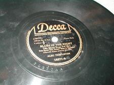 78 RPM BLUES IN THE NIGHT b/w GREIG PIANO CONCERTO ALEC TEMPLETON DECCA 18271