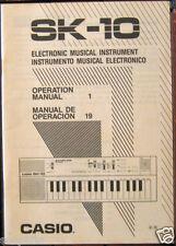 Casio SK-10 Sampling Keyboard Original Owner's User's Operating Manual Booklet