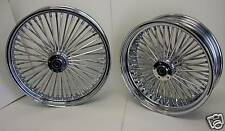 CHROME MAMMOTH 52 FAT SPOKE WHEELS 21x2.15 16x3.5 HARLEY SOFTAIL DYNA SPORTSTER