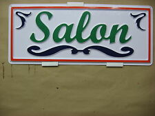 SALON Service Sign 3D Embossed Plastic 7x18, High Visibility Shop Tan Hair Care
