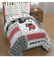 Disney Mickey Mouse Classic Twin/Full Reversible Comforter & Twin 3-Pc Sheet Set
