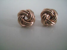 Rose gold knot stud earrings 9 carat