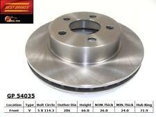 Disc Brake Rotor-4WD Front Best Brake GP54035
