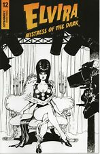 ELVIRA MISTRESS OF THE DARK #12 FOC Black & White Variant Cover 2020 Dynamite NM