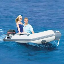 10.9 ft Inflatable Boat Inflatable Dinghy Boat Yacht Tender Fishing Raft Gray