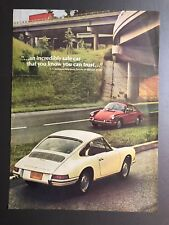 1967 Porsche 911 912 Showroom Advertising Sheet RARE!! Awesome L@@K Very Good