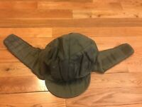 Genuine Military German Army Issued Olive Green OD Winter Pile Cap Hat ALL SIZES