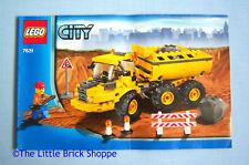 Lego City 7631 Dump Truck - INSTRUCTION BOOK ONLY - No Lego bricks