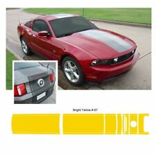Ford Mustang 2010-2012 w/ Lip Spoiler Center Stripe Graphic Kit - Bright Yellow