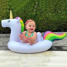 Unicorn Baby Kids Infant Inflatable Swim Ring Boat Swimming Float Raft Safe Seat