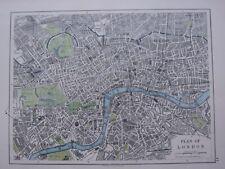 1918 MAP PLAN OF LONDON THAMES WESTMINSTER PIMLICO ISLINGTON REGETNS PARK HYDE