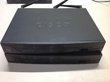 Cisco 861,881 Series 800 4-Port Fxs Integrated Service Router Lot Of 2