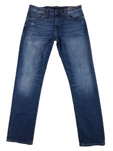Mavi Jeans & Co Mens stretch Zach Straight Leg Denim Blue Low size 32 x 32