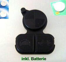 BMW Schlüssel 3-Tasten Gummi Reparaturset E36 E38 E39 E46 FFB Keypad + Batterien