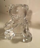 Vintage Godinger for Steiff Clear Lead Crystal Teddy Bear