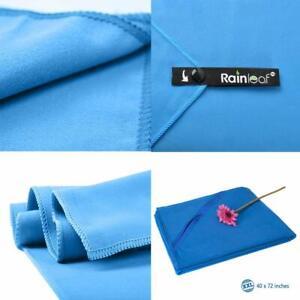 Rainleaf Microfiber Towel, Size XL. Blue, 30 X 60 Inches