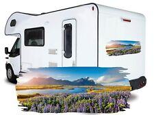 Mountain Motorhome Vinyl Graphic - Camper Car Caravan Horsebox Stickers Decals