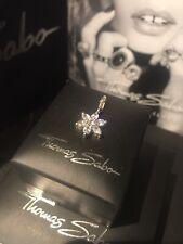 Genuine Thomas Sabo 'Sparkling CZ Flower' Pendant Charm RRP£39.95 Rare, Retired