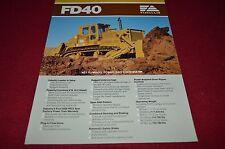 Fiat Allis Chalmers FD40 Crawler Tractor Dealer's Brochure BWPA