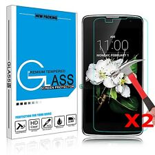 2x REAL Premium Real Tempered Glass Film Screen Protector For LG Cell Phone