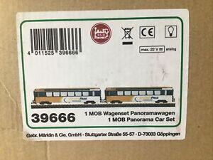LGB 39666 MOB Golden Pass Panorama 2-Car Set w/Lights