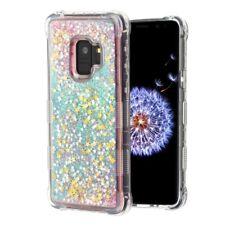 SAMSUNG GALAXY S9 G960 PINK STARS TUFF LITE QUICKSAND GLITTER LIQUID CASE COVER