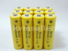 12 pcs Rechargeable NiCd AA 600 mAh Batteries for Solar-Powered Lights A12