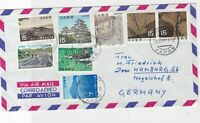 japan 1969 multi stamps cover  ref 10136