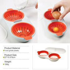 Microwave Egg Poacher Cookware Double Cup Egg Steamer Maker Kitchen Cooking Tool
