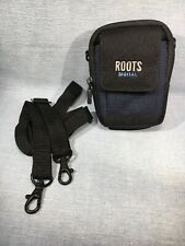 Roots Model D1 Compact Camera Case Bag Pouch Belt Loop - Black Navy Blue